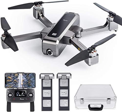 Potensic Faltbare GPS Drohne mit 2 Akkus, 2K Kamera 5G WiFi FPV Drohne, RC Quadrocopter, GPS-Heimkehr, Ultraschall-Höheneinstellung, Positionierung des Optischen Flusses, Bürstenlose Motoren D88