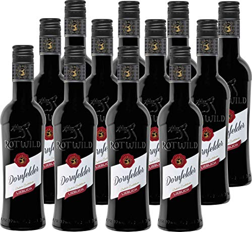 Rotwild Dornfelder Rotwein QbA lieblich 12er Pack (12 x 0.25 l)