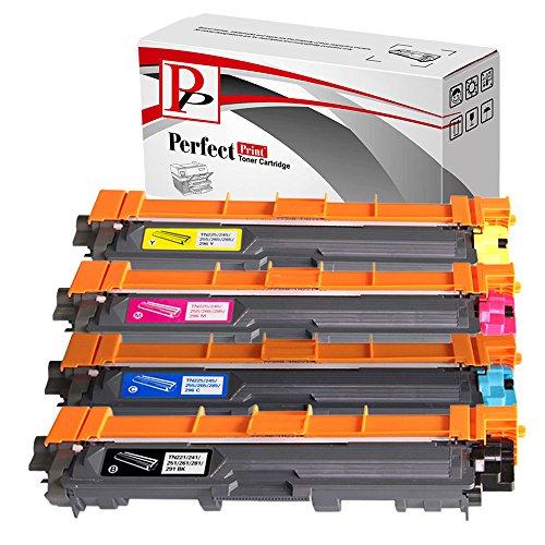 Perfectprint Cartuccia toner di ricambio compatibile con Brother DCP-9020CDW HL-3140CW 3150CDW 3170CDW MFC-9140CDN 9330CDW 9340CDW TN241 / TN-241 TN245 / TN-245 (nero/ciano/magenta/giallo, confezione da 4 pezzi)
