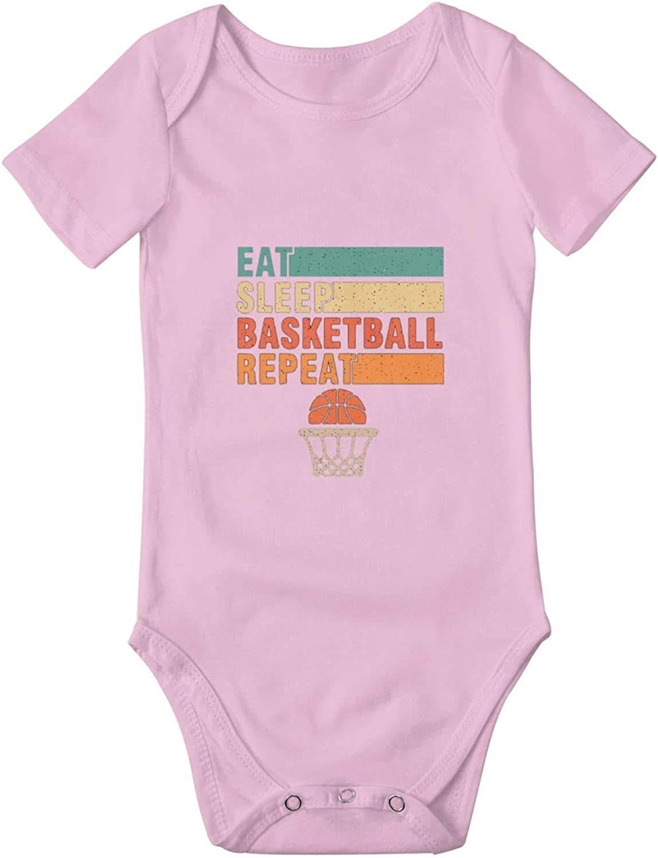 Eat Sleep Basketball Baby New York Save money Mall Bodysuit Short Newborn Suit One-Piece
