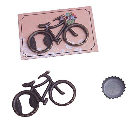 Pioneer Clan - Apribottiglie in bronzo con motivo bicicletta, ideale come regalo per ospiti (Bike-5 confezioni)