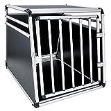 JOM Hundebox Hundetransportbox Transportbox Hund Alubox Reisebox Gitterbox Auto