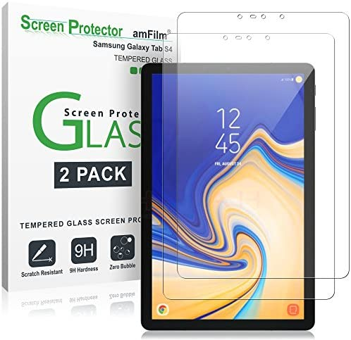 amFilm Glass Screen Protector for Galaxy Tab S4 2 Pack Tempered Glass product image