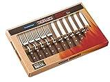 Tramontina 12 piezas cuchillo y tenedor juego de cubiertos de madera, marrón