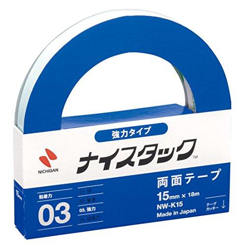 ニチバン 両面テープ ナイスタック 強力タイプ 15mm×18m NW-K15