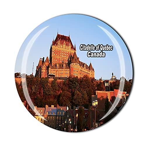 Imán para nevera en 3D con diseño de ciudadella de Quebec de Canadá y cristal de recuerdo de cristal, colección de recuerdos, regalo para el hogar y la cocina