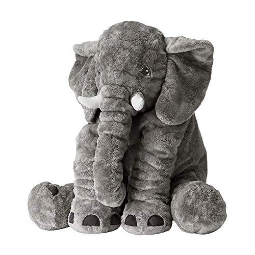 Regenboghorn Oreiller éléphant Doux Dessin animé bébé éléphant poupée Cadeau pour Enfants et Adultes de Tous âges (Couleur: Gris, Taille: 40 cm)