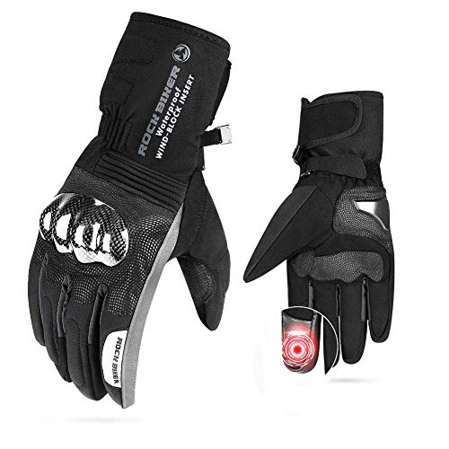 Motorcycle Winter Gloves Men Gauntlet Touch Screen Gloves Riding Windproof Water Resistant Carbon...
