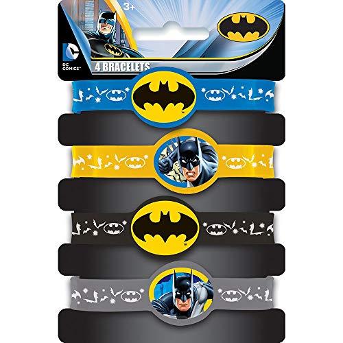KULTFAKTOR GmbH Batman-Armbänder Lizenzartikel 4 Stück bunt Einheitsgröße