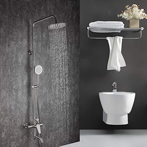 GHKUFH Sistema de Ducha Juego de grifos de Ducha Mezcladores de Ducha de Lluvia de Acero Inoxidable Ducha de baño Hot & amp;Grifo Mezclador de Agua fría