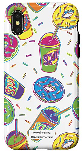 iPhone X/XS The Simpsons Donuts and Squishee Print Case