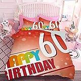 Hiiiman Home Textiles Juego de ropa de cama Ropa de cama Rojo y Escarlata Resumen Vigas de fondo con Eslogan de fiesta Colorido (3 piezas, tamaño King Size) Juego de funda de edredón