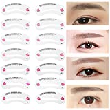 MNoel 24種類 眉毛テンプレート24枚セット 太眉対応 24パターン 眉毛を気分で使い分け 眉用ステンシル
