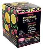 Theory of Kombucha Powdered Drink Mix, Energy+, 12 Single-Serving Pouches