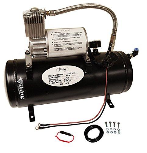 Viking Horns V3305 1.5 Gallon Air Tank & air Compressor Kit, On-Board Air System for Train Air Horn
