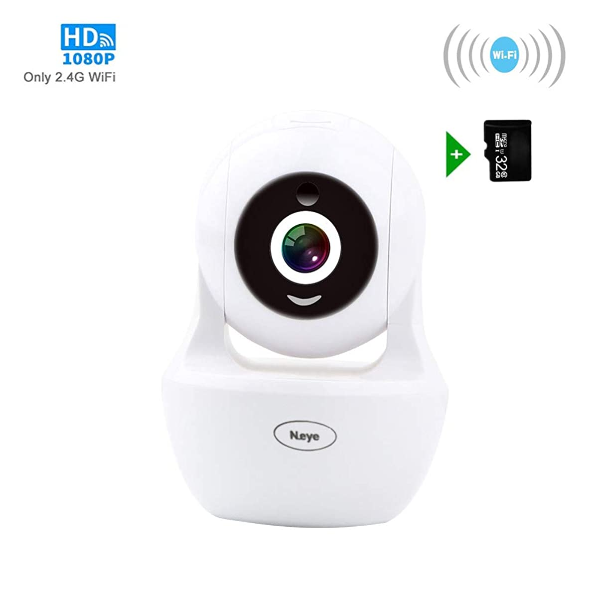 Wireless Camera Indoor,Wireles WiFi Camera, 1080P HD Wireless Night Vision Camera, Pet Monitoring Baby Camera, Built-in 32G Memory Card,IR LED Motion Detection IP Cameras for Indoor, Support Max 128GB
