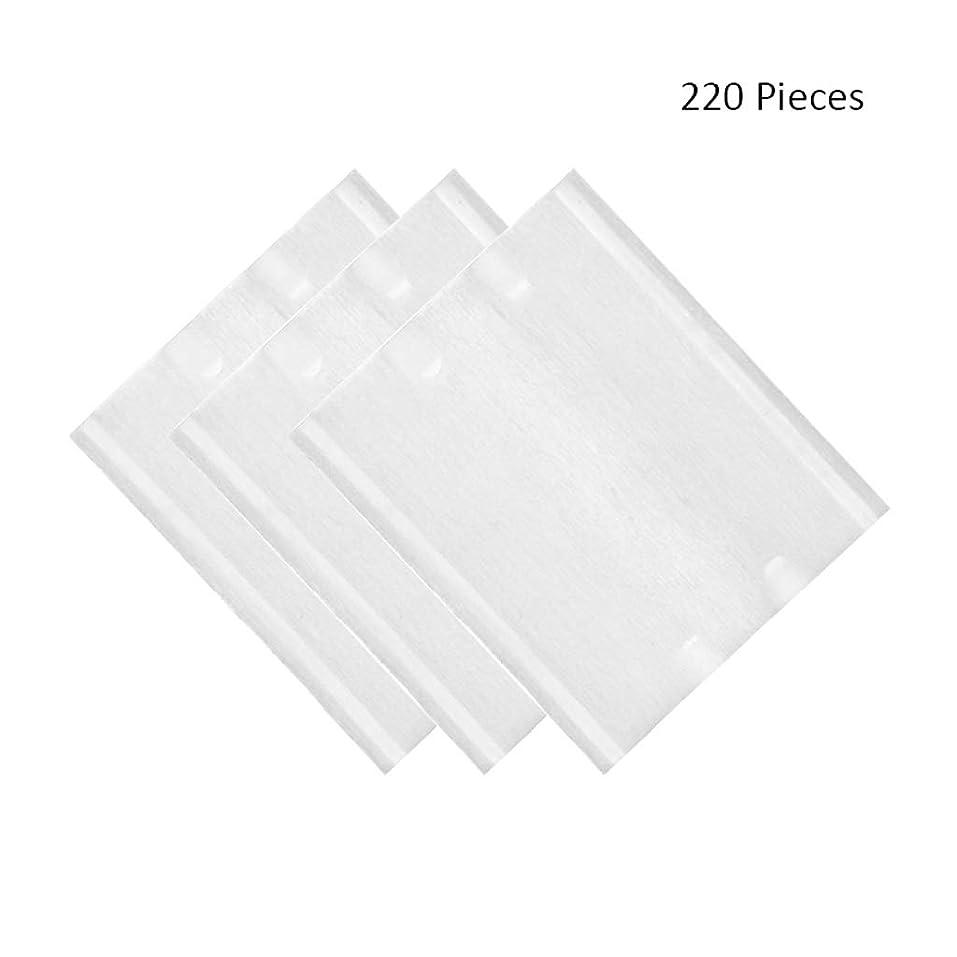 悲しむベジタリアン政治的220ピース/パックフェイスメイクリムーバーソフト化粧コットンパッド両面スキンケアクレンジングコットンパッドリムーバーワイプ (Color : White, サイズ : 6*5cm)