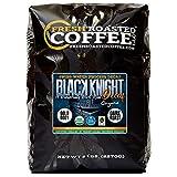Fresh Roasted Coffee LLC, Black Knight Swiss Water Decaf Organic Coffee, Dark Roast, Whole Bean, 5 Pound Bag