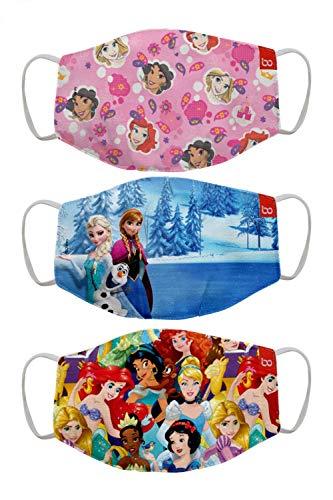 Bon Organik Disney Princess (OFFICIAL MERCHANDISE) 2 Ply Printed Cotton Cloth Face...