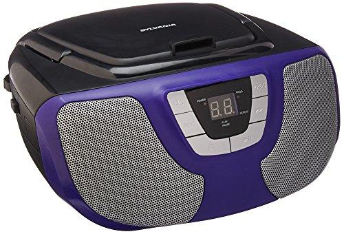 Unknown Sylvania Portable CD Player Boom Box with AM/FM Radio (Purple) (SRCD1025-Purple)
