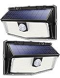Luce Solare con 300 LED, Luci Solari Esterno con Sensore di Movimento a 270°, 3 Modalità di Illuminazione Opzionale, Lampada Solare da Esterno IP67 Impermeabile [2 Pezzi]