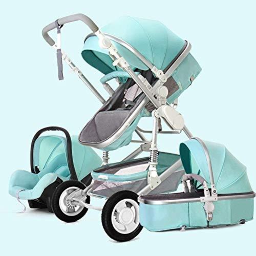 YZPTD 3 en 1 Sistema de Viaje Cochecito de bebé, arnés de 5 Puntos y Canasta de Alto Almacenamiento, Cochecito de Cochecito, Silla para bebés y recién Nacidos (Color : D)