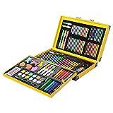 Conjunto Arte CONDA Deluxe en Maletín, Para Niños o Adultos -Set Material Escolar – 159 piezas, incluye lápices de colores, pasteles de óleo, acuarelas, pinceles para pintar