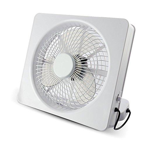 Ventilador cuadrado portátil Welltop de 15cm (6pulgadas) y 2 velocidades, alimentado por USB o pilas AA. Ventiladores de escritorio ajustables angulares