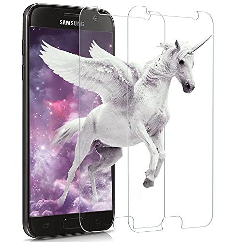 Carantee Panzerglas Kompatibel mit Samsung Galaxy S7, 9H Härte Ultra Clear Schutzfolie, Anti-Fingerabdruck Panzerglasfolie, Blasenfrei Glasfolie Displayschutzfolie [2 Stück]