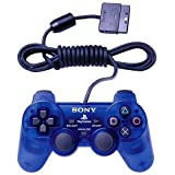 Sony Playstation 2 Dualshock 2 Analog Wired Controller SCPH-10010 - Ocean Blue (Renewed)