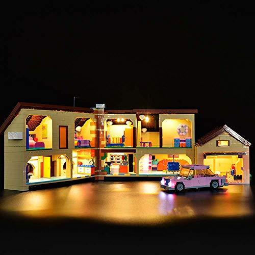 TZH Kit De Iluminación LED Modelo Compatible con Lego 71006, Juego De Luces USB DIY para Modelo De Bloques De Construcción (Simpson House)
