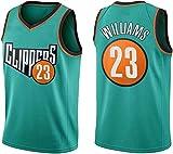GLACX Ropa de Baloncesto para Hombre NBA (3 Estilo) Los Angeles Clippers 23# Williams Jerseys Bordados Retro, Camiseta sin Mangas con Malla sin Mangas Deportivas,A,L