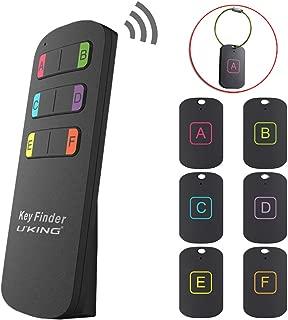 U`King キーファインダー 受信器6個 探し物発見器 鍵紛失防止 キーホルダー ワイヤーキーリング付き 忘れ物防止 タグ 財布 キー、ウォレット、リモートトラッカー なくし物紛失物探し ステッカー付きアラーム器 高齢者、物忘れ人、贈り物に適しています Key Finder