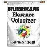 Eriesy Flagge Fahnen Hurricane Florence Volunteer September 2018 Flag Garden Flag Family Flag Party Flag 100% Polyester Fiber Vertical Indoor Flag