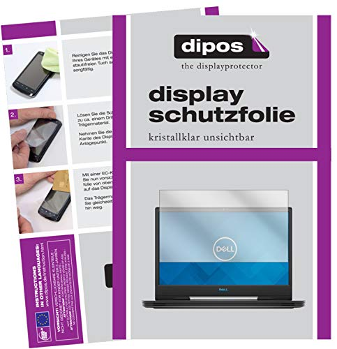 dipos I 2x Screen Protector for Dell G5 15 5590 15.6 inch Protection Films clear