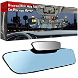Anti Glare RearView Mirror - 13' 330mm Car Rear view Mirror Clip-on , Interior Rear View Mirror Convex Car Mirror Wide Angle Reduce Blind Spot, Panoramic Rearview Mirror for Car Truck SUV