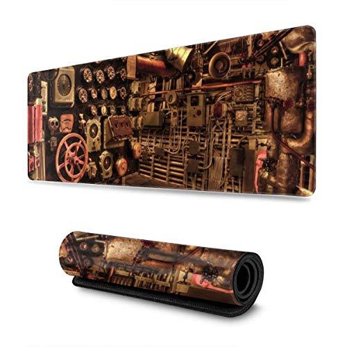 Alfombrilla de ratón para Juegos Battleship Engine Room, Alfombrilla de Escritorio Grande extendida, Alfombrilla de Mouse con Base de Goma Antideslizante, 30 X 80 cm