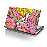 TaylorHe - Vinilo adhesivo para portátil de 13 a 14', diseño de unicornio de Inglaterra, color rosa