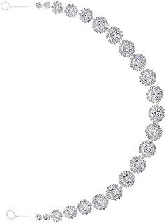 PIXNOR Accessorio per da Sposa Lucido con Fascia con Perline di Strass per Banchetti di Nozze