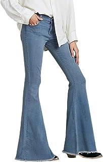 LXESWM Pantalones Vaqueros Ajustados y Ajustados para Mujer, Ajustados, cómodos, elásticos, con Corte Acampanado, versátil...