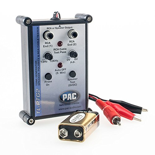 Pac TL-PTG2 Audio-Tester mit Integriertem Tongenerator, Speaker-Phasentester & Cinchkabel-Tester