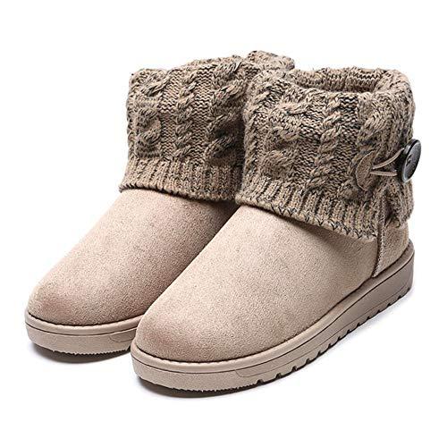 Damen Ankle Boot Stiefeletten Winter Snowboot Mukluk Schlupfstiefel Yeti Stiefel