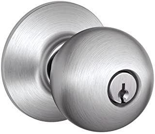 Schlage A53PD ORB 626 C Keyway Series A Grade 2 Cylindrical Lock, Entrance Function, C Keyway, Orbit Design, Satin Chrome Finish