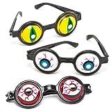 Baker Ross Gafas espeluznantes (Paquete de 5) Juguetes novedosos para niños, Fiesta, botín o Bolsa de premios, Colores Surtidos