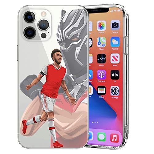 MIM Global Football Soccer Schutzhülle Hülle Cover kompatibel für alle iPhone (iPhone 12/12 Pro, Aubam)