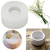 HAPYLY 3D Handmade Silicone Candle Soap Bottle Mold Succulent Planter Flower Pot Silicone Mold DIY Ashtray Candle Holder Mould