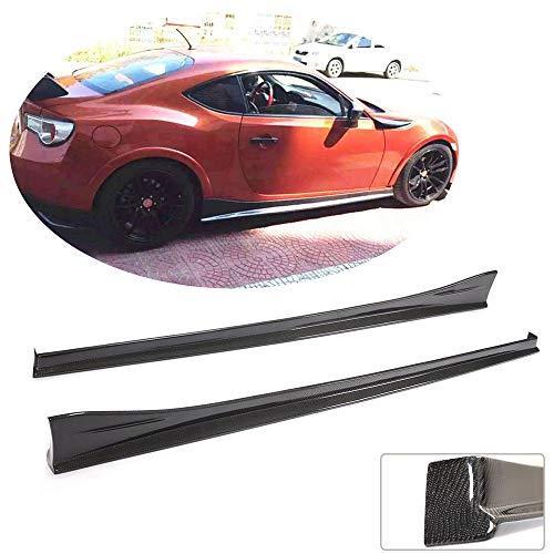MCARCAR KIT Side Skirts fits for Subaru BRZ 2013-2020 Toyota FT86 GT86 2013-2020 Scion FR-S 2012-2015 Add-on Carbon Fiber CF Under Door Rocker Panels Valance Extension Lip