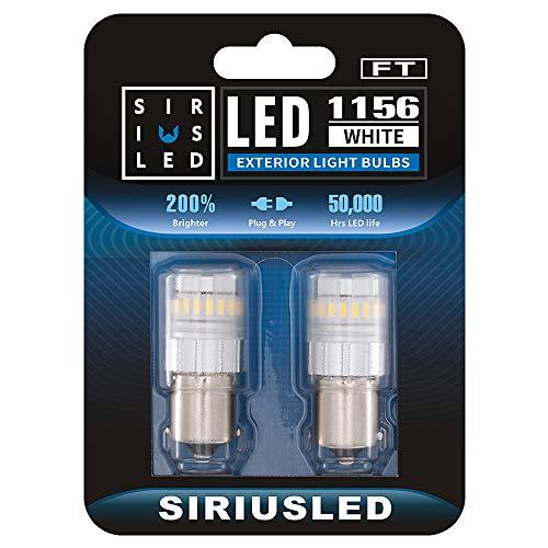 SIRIUSLED - FT- 1156 7506 LED Backup Reverse Light Bulb Super Bright High Power 3030+4014 SMD White 6500K Pack of 2