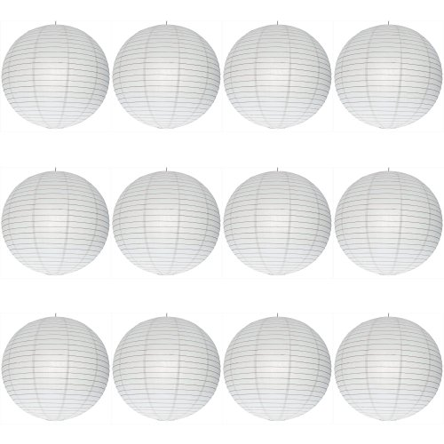 '12 X 16 Paper Lanterns UK Lanterne ronde en papier avec structure fil d'acier – schn & # x160 ; ppchen Multipack