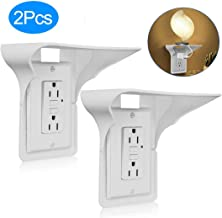 Outlet Shelf 2 Pack,Shelf Outlet,Wall Outlet Shelf,Power Perch,Dot Shelf,Power Shelf,Otlet Shelf,Utlet Shelf,Outlet With Shelf, Easy Install,Holds Up to 10 lbs